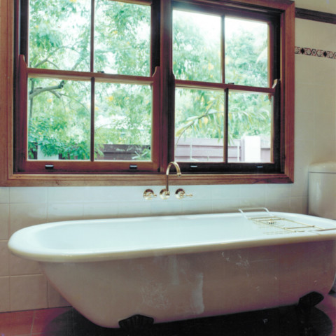 Bath and window