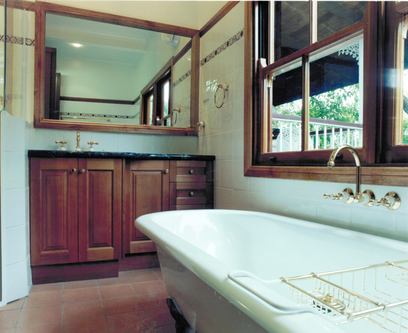 Vanity bath and window
